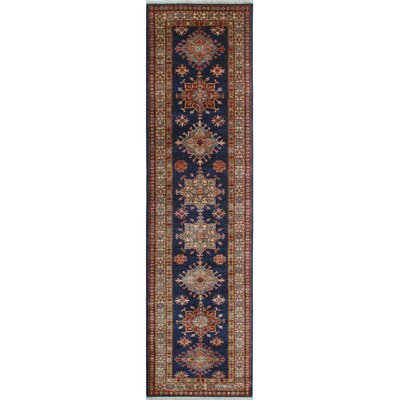 Chanell Razia Hand-Knotted Wool Blue/Ivory Area Rug