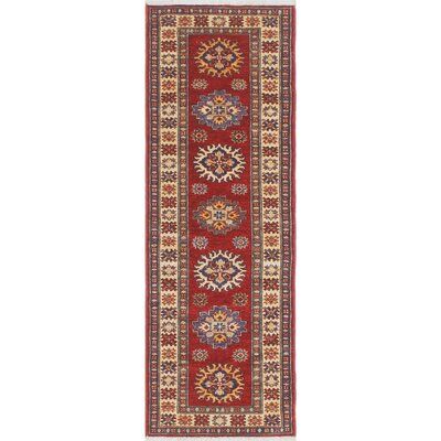 Chanell Zaland Hand-Knotted Wool Red Area Rug