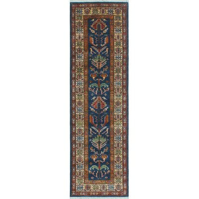 Chanell Lima Hand-Knotted Wool Blue Area Rug