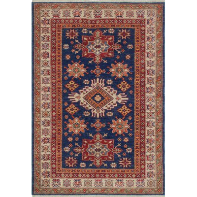 Chanell Manija Hand-Knotted Wool Blue Area Rug