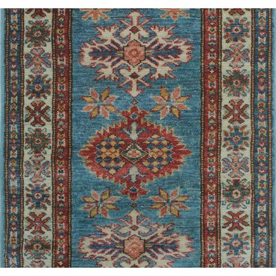 One-of-a-Kind Felder Mahbooba Hand-Knotted Wool Blue Area Rug