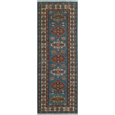 Chanell Nik Hand-Knotted Wool Blue Area Rug