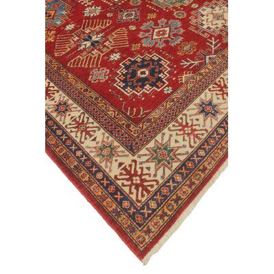 Chanell Abraham Hand-Knotted Wool Red Area Rug