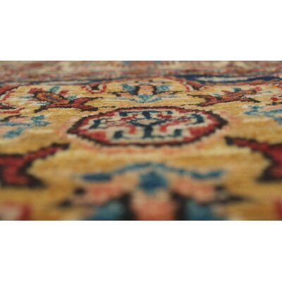 One-of-a-Kind Felder Aman Hand-Knotted Wool Red Area Rug