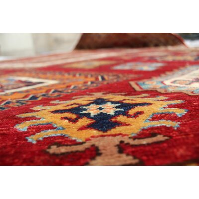Chanell Sadiq Hand-Knotted Wool Red Area Rug
