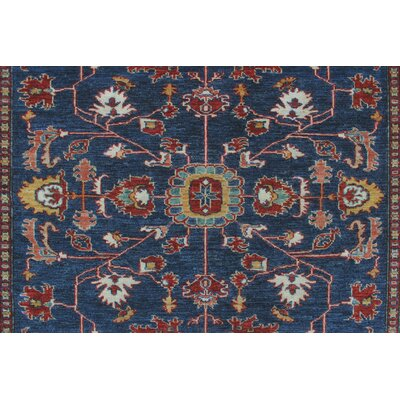 Chanell Leena Hand-Knotted Wool Blue Area Rug