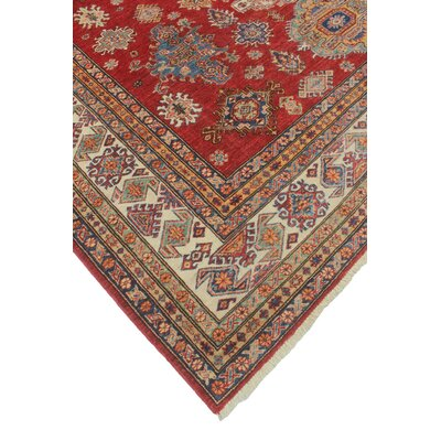 Chanell Hekmat Hand-Knotted Wool Red Area Rug