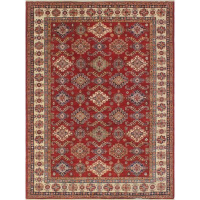 Chanell Waziri Hand-Knotted Wool Red Area Rug
