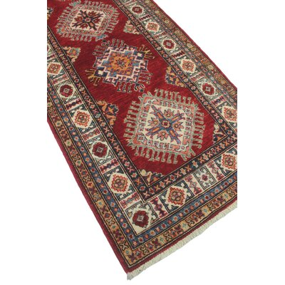 Chanell Nastarang Hand-Knotted Wool Red Area Rug