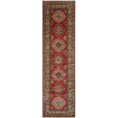 Chanell Ilaaha Hand-Knotted Wool Red Area Rug