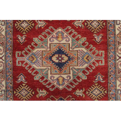 Chanell Zamzama Hand-Knotted Wool Red Area Rug