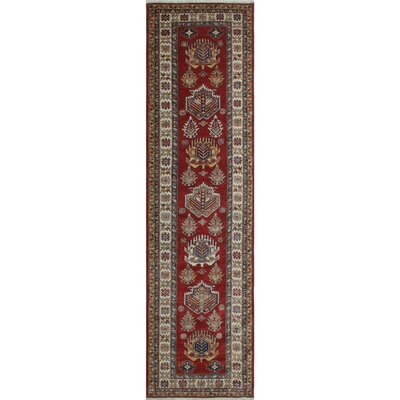 Chanell Basir Hand-Knotted Wool Red Area Rug