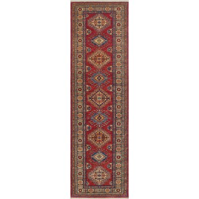 Chanell Safi Hand-Knotted Wool Red Area Rug