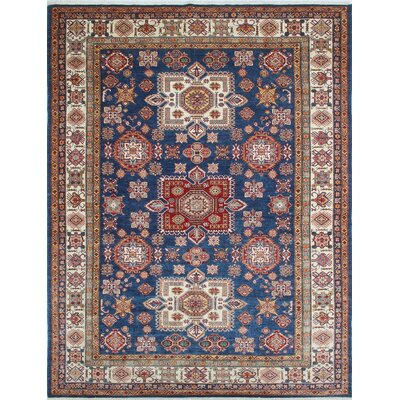 Chanell Fatana Hand-Knotted Wool Blue Area Rug