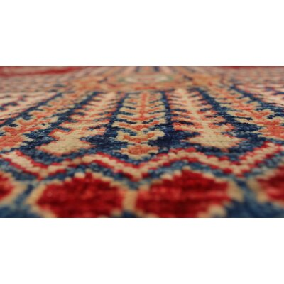 One-of-a-Kind Felder Tella Hand-Knotted Wool Red Area Rug