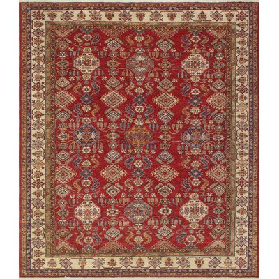 One-of-a-Kind Felder Toobah Hand-Knotted Wool Red Area Rug