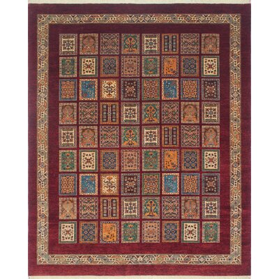 Trevor Mahsooma Hand-Knotted Wool Red Area Rug