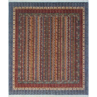 Trevor Mona Hand-Knotted Wool Blue Area Rug