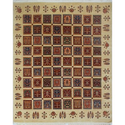Trevor Parwin Hand-Knotted Wool Ivory Area Rug