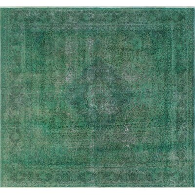One-of-a-Kind Todd Distressed Leepa Hand-Knotted Wool Green Area Rug