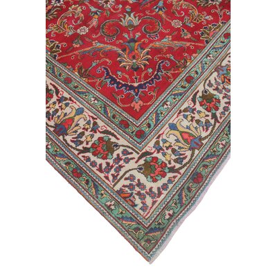 One-of-a-Kind Todd Distressed Hanif Hand-Knotted Wool Red Area Rug