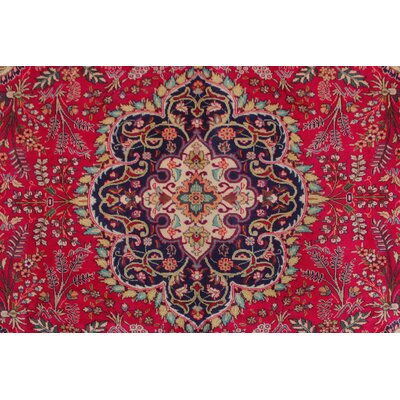 Todd Distressed Idress Hand-Knotted Wool Red Area Rug