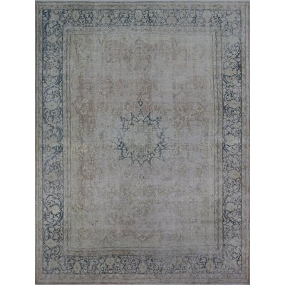 Todd Distressed Zar Hand-Knotted Wool Light Brown Area Rug