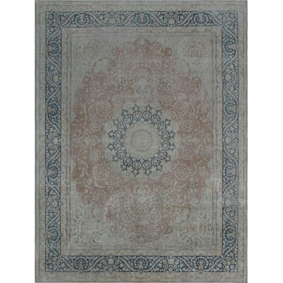 Todd Distressed Maiwand Hand-Knotted Wool Rust Area Rug