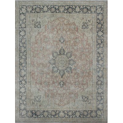 One-of-a-Kind Todd Distressed Pashtana Hand-Knotted Wool Rust Area Rug