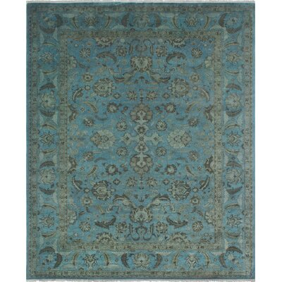One-of-a-Kind Chaney Nooman Hand-Knotted Wool Blue Area Rug