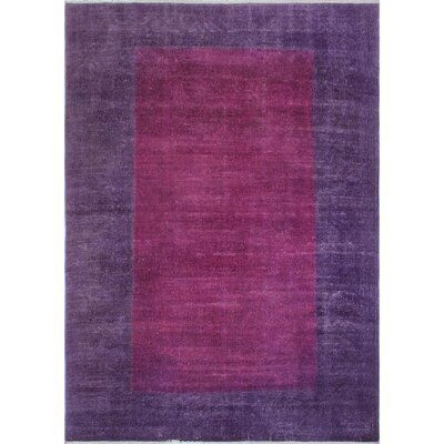 One-of-a-Kind Chaney Manizha Hand-Knotted Wool Purple Area Rug