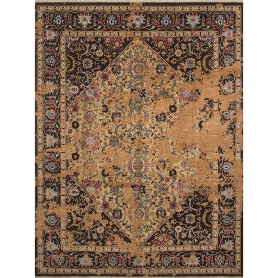Dravis Hand Knotted Wool Grey Area Rug