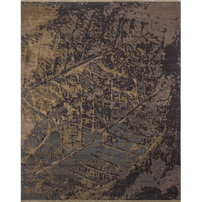One-of-a-Kind Jackson Hand Knotted Wool Blue Abstract Area Rug