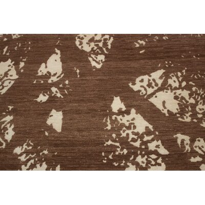 Jackson Hand Knotted Wool Brown Area Rug