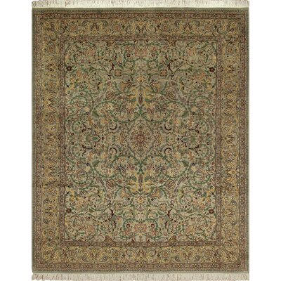Cleasby Hand Knotted Rectangle Wool Beige Area Rug