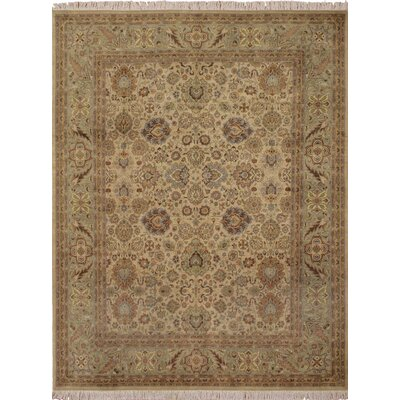 Cleasby Hand Knotted Wool Beige Area Rug