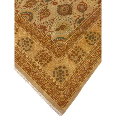One-of-a-Kind Monte Sereno Hand Knotted Wool Beige Area Rug