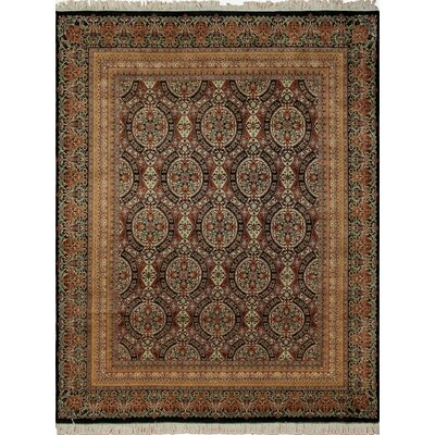 One-of-a-Kind Cleasby Hand Knotted Wool Black Area Rug
