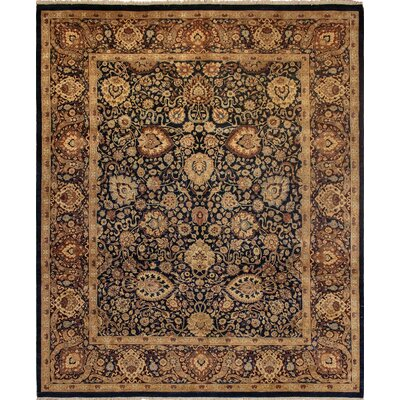 Clearman Traditional Hand Knotted Wool Navy/Rust Area Rug size: 82 H x 10 W