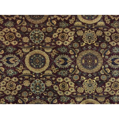 Clearman Hand Knotted Wool Red/Blue Area Rug size: 83 H x 99 W