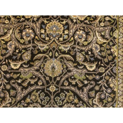 Clerkin Hand Knotted Wool Brown Area Rug size: 711 H x 103 W