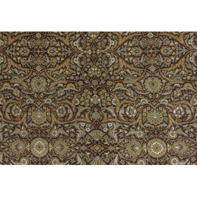 Cleasby Hand Knotted Wool Brown Area Rug