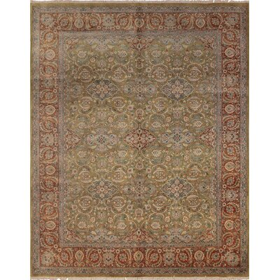 Clerkin Hand Knotted Wool Gold Area Rug size: 83 H x 103 W