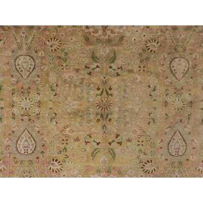 Loganville Knotted Wool Gold Area Rug
