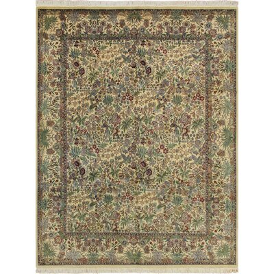 Cleasby Hand Knotted Wool Ivory Area Rug
