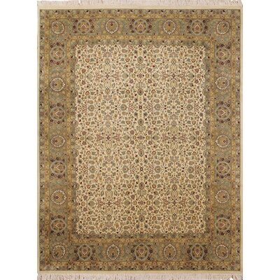One-of-a-Kind Cleasby Oriental Hand Knotted Wool Ivory Area Rug