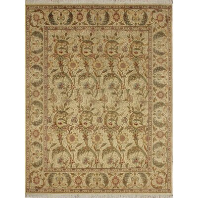 Cleasby Traditional Hand Knotted Wool Ivory Area Rug