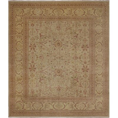 Manheim Hand Knotted Wool Green Area Rug size: 82 H x 98 W