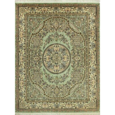One-of-a-Kind Cleasby Hand Knotted Wool Green Area Rug