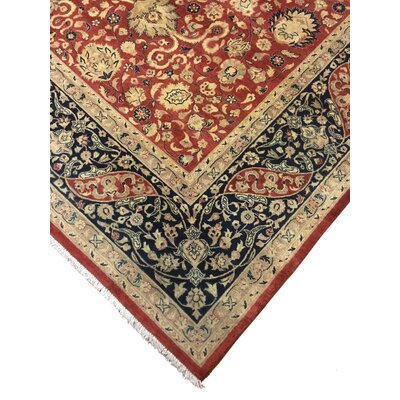 One-of-a-Kind Cleasby Hand Knotted Wool Red/Blue Rug